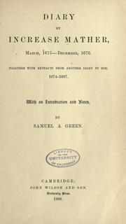 Cover of: Diary