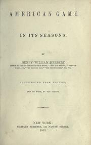 Cover of: American game in its seasons