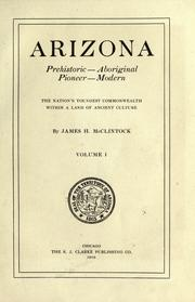 Cover of: Arizona, prehistoric, aboriginal, pioneer, modern by James H. McClintock