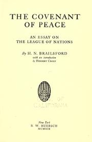 Cover of: The covenant of peace