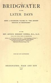 Cover of: Bridgewater in the later days