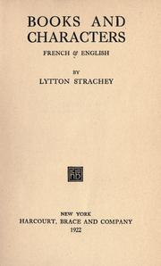 Cover of: Books and characters: French & English