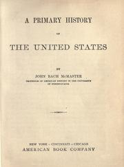 Cover of: A primary history of the United States