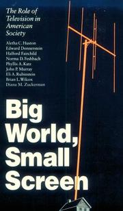 Cover of: Big World, Small Screen | Aletha C. Huston