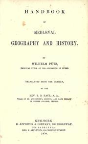 Cover of: Handbook of mediaeval geography and history | Wilhelm Pütz