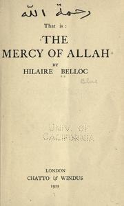 Cover of: The mercy of Allah
