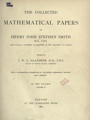 Cover of: Collected mathematical papers. by Henry John Stephen Smith