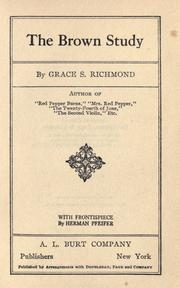Cover of: The Brown Study
