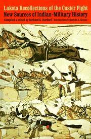 Cover of: Lakota recollections of the Custer fight