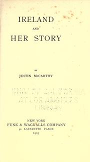 Cover of: Ireland and her story