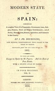 Cover of: Modern state of Spain | Bourgoing, Jean-François baron de