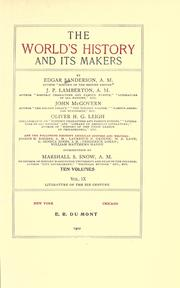 Cover of: The world's history and its makers