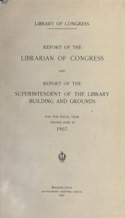 Cover of: Report of the Librarian of Congress