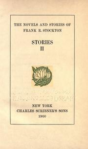 Cover of: The Novels and Stories of Frank Stockton ..