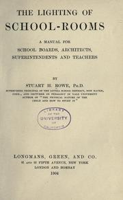 Cover of: The lighting of school-rooms
