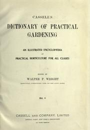 Cover of: Cassell's dictionary of practical gardening