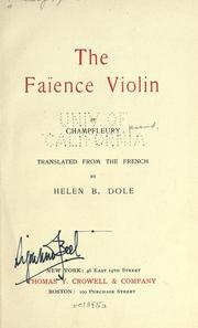 Cover of: The faïence violin