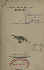 Cover of: The works of Ralph Waldo Emerson | Ralph Waldo Emerson