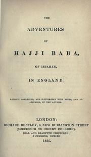 Cover of: The adventures of Haggi Baba, of Ispahan, in England