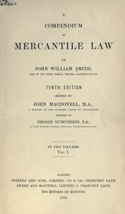 A compendium of mercantile law by Smith, John William