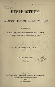 Cover of: Hesperothen