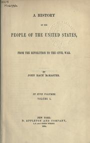Cover of: A history of the people of the United States