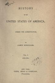 Cover of: History of the United States of America | Schouler, James