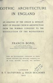 Cover of: Gothic architecture in England