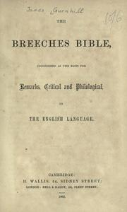 Cover of: Breeches Bible | James Gurnhill