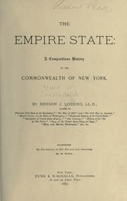 Cover of: The Empire State | Benson John Lossing