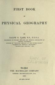 Cover of: First book of physical geography