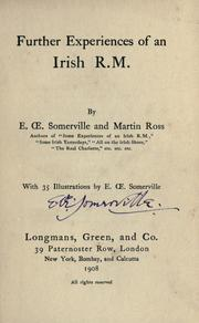 Cover of: Further experiences of an Irish R.M. by E. OE. Somerville