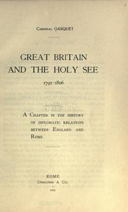 Cover of: Great Britain and the Holy See, 1792-1806