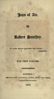Cover of: Joan of Arc | Robert Southey