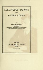Cover of: Lollingdon Downs, and other poems