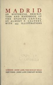 Cover of: Madrid | Albert Frederick Calvert