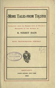 Cover of: More tales from Tolstoi
