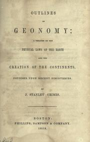Cover of: Outlines of geonomy