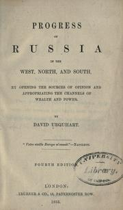 Cover of: Progress of Russia in the west, north, and south