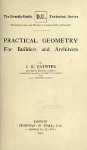Cover of: Practical geometry for builders and architects