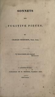 Cover of: Sonnets and fugitive pieces