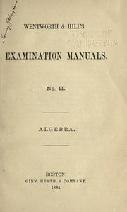 Cover of: Wentworth & Hill's examination manuals