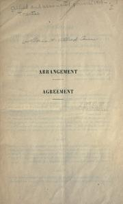 Cover of: Agreement between the United States of America, Belgium, the British Empire and France and Germany with regard to the military occupation of the territories of the Rhine