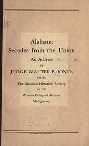 Cover of: Alabama secedes from the Union