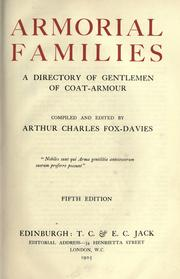 Cover of: Armorial families | Arthur Charles Fox-Davies