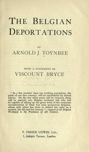 Cover of: The Belgian deportations