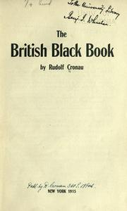 Cover of: The British black book
