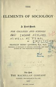Cover of: The elements of sociology