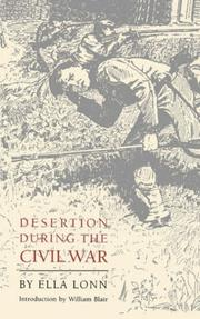 Desertion during the Civil War by Ella Lonn