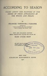 Cover of: According to season